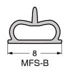 キャビネットとガラス扉のすき間や ガラス扉同士のすき間をふさぐ 専用設計の硬化シリコーンシールです 高い気密性を保持し シリコーンの弾性は永続的です LAMP スガツネ工業シリコーンシール材 MFS型品番 色 25m※本品は1巻単位での販売です MFS-B注文コード シリコーンシール材材料 170-090-075品名 待望 メーカー再生品 半透明1巻 シリコーンゴム Q