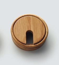 コードを通す部品木製配線孔キャップ 2520型 人気 おすすめ 新登場 LAMP スガツネ 丸型25-20-405-1 オーク 工業配線孔キャップ