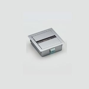 LAMP スガツネ 工業配線孔キャップ 角型PC2000Z78EZ002 マットシルバー