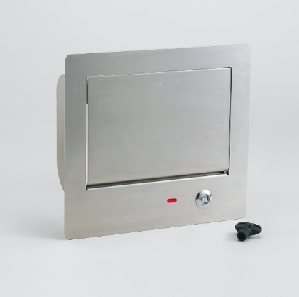 LAMP スガツネ工業ステンレス鋼製 ダンパー付 屑入 投入口AZ-GD230L-HL 鍵付