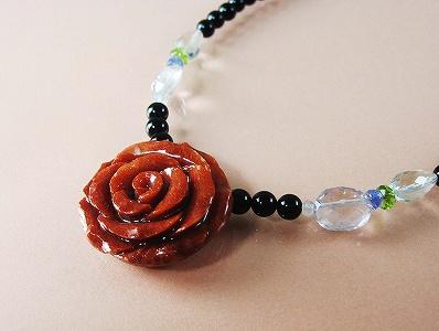 別名アップルサンゴ ディスカウント 安価で見映える珊瑚です アフリカ珊瑚 ネックレス のし等ギフト対応無料 レビューを書けば送料当店負担 .タンザナイト.水晶.ペリドット.オニキスのコラボネックレス アクセサリー長さ48センチから53センチまで調節可能です 薔薇の花サンゴ バラがかわいい