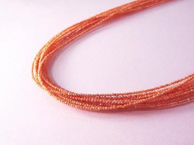 深海珊瑚 ネックレス 10連 (のし等ギフト対応無料) シルバー金具に1.8mm玉の本珊瑚を10本連ねて華やかさを演出 長さ60センチの首元を彩るプレシャスジュエリー 無染色 さんご サンゴ ネックレス