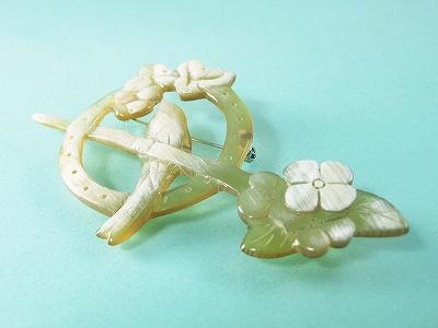白水牛の鳥ブローチ ハンドメイド 敬老の日 贈り物 アンティーク 手作り クラシカル レトロ 母の日 プレゼント 白水牛