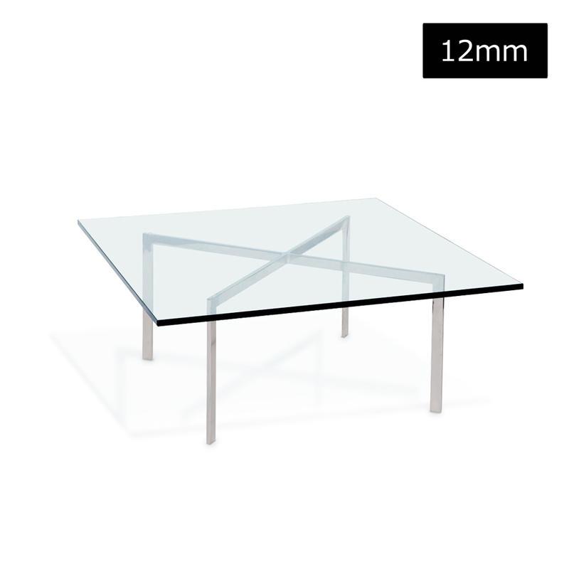 ミースファンデルローエ【バルセロナテーブル】天板強化ガラス12mm(送料S) 2073