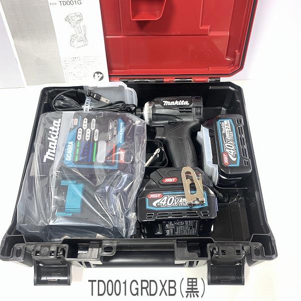 ☆送料無料☆ ★最新型 ■マキタ 40V インパクトドライバー TD001GRDXB (黒) ★新品セット