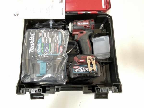 ■マキタ 40V-2.5Ah インパクトドライバー TD001GDXAR--B1 (オーセンティックレッド) 電池1個仕様 ★新品
