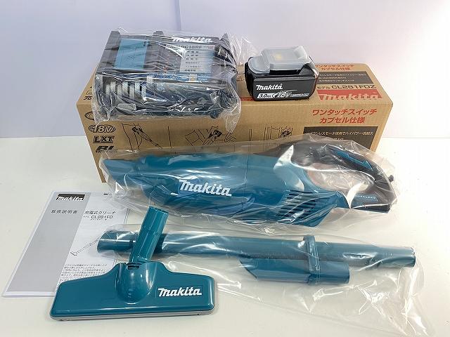 ■マキタ 18V-3.0Ah 充電式クリーナー CL281FDRF-SET青 新品★内容:CL281FD(青)本体+充電器+電池BL1830B