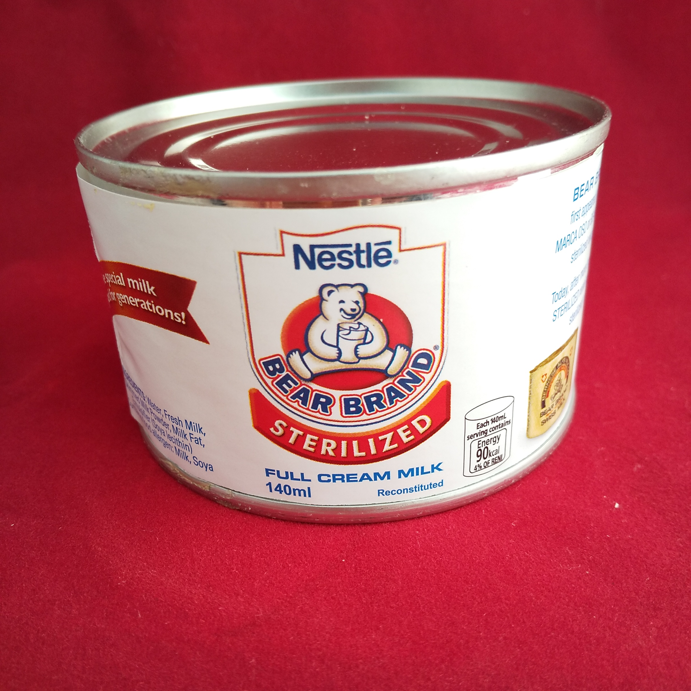 タイ食材専門店 人気 おすすめ Thai Food お求めやすく価格改定 Sterilized Milk Bear タイ産 ネスレ 製菓材料 ケース売り Brand 製パン材料 お菓子作り 滅菌牛乳 140g×1缶