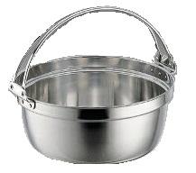 ◇高嶋金物店◇SW18-8料理鍋吊付33cm