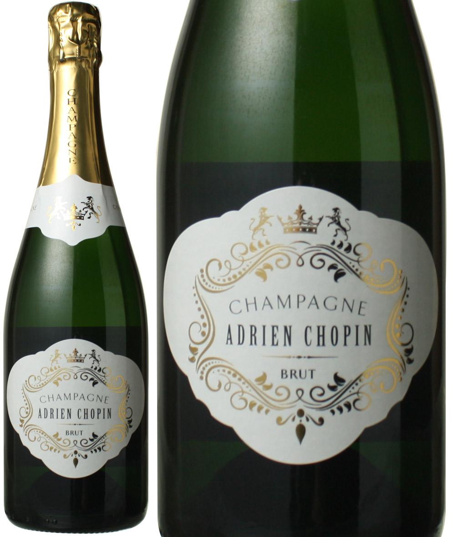 コスパ傑出シャンパーニュ 新品 送料無料 アドリアン ショパン ブリュット お得 ワイン NV シャンパン 白