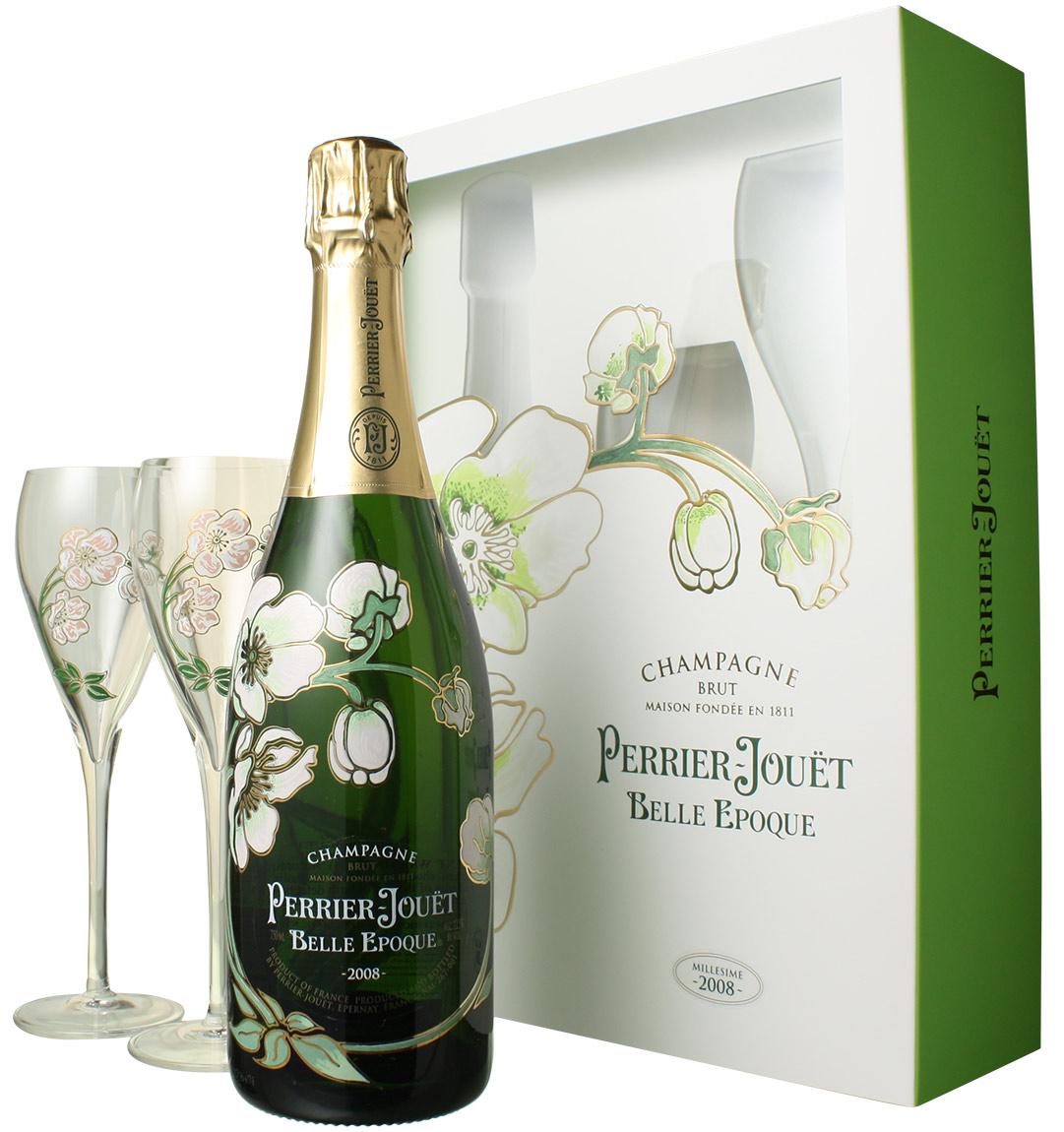 ペリエ・ジュエ ベル・エポック グラス付きセット [2008] <白> <ワイン/シャンパン>