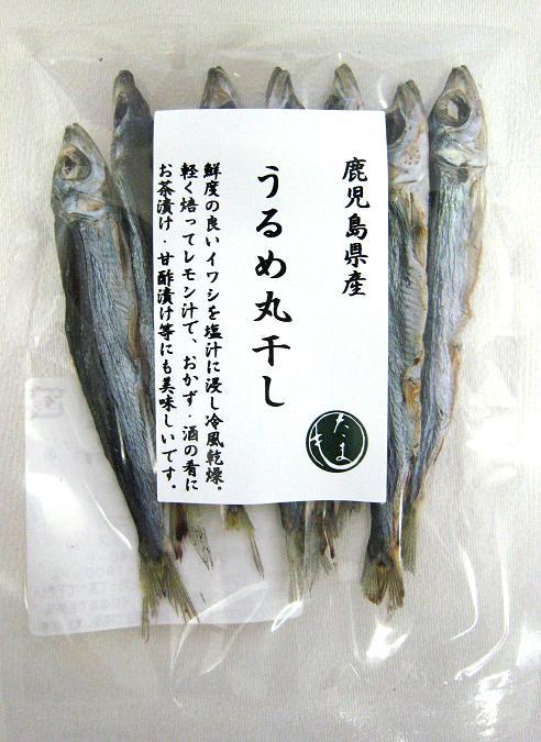 鹿児島県産 品質保証 いわし ストア 干物 おつまみ 鹿児島県産うるめ丸干し35g ネコポス8個まで対応