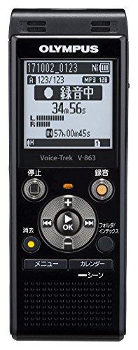 OLYMPUS Voice お求めやすく価格改定 Trek ピアノブラック V-863BLK ICレコーダー 新作