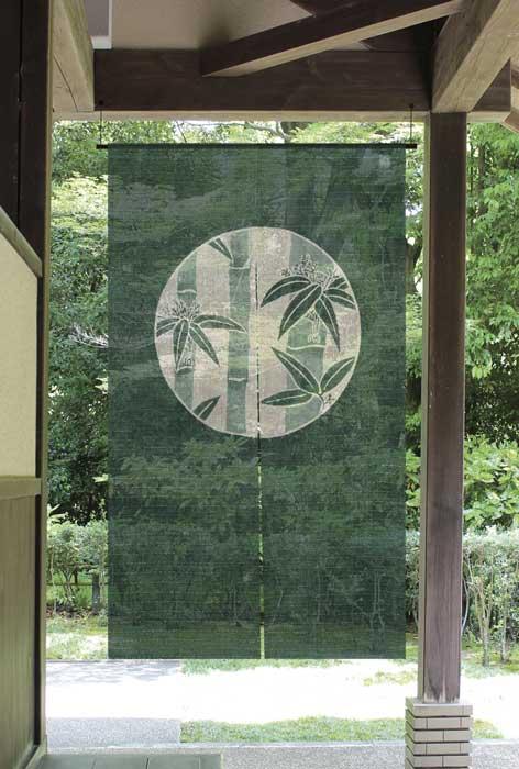 ディスカウント オススメ 古典の中に新しさを感じる暖簾 麻のれん 手数料無料 新古典 丸に竹