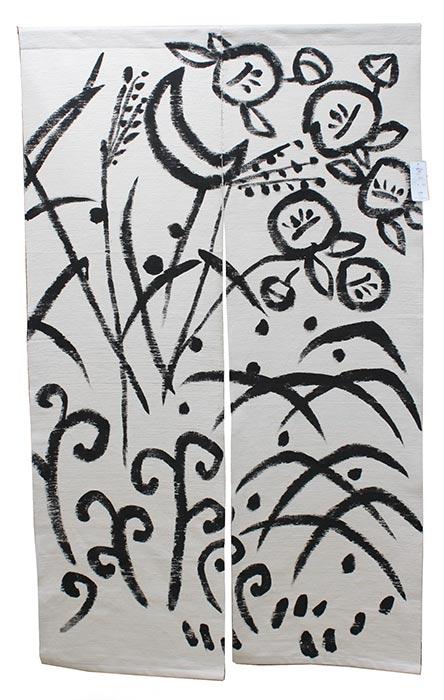 のれん 四季 綿100% 暖簾 万葉舎 88cm×150cm 日本製 和インテリア