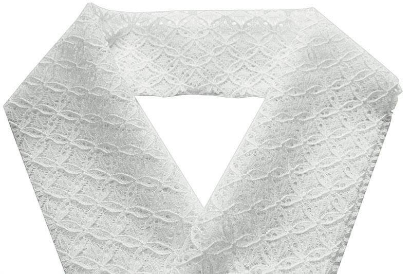 オススメ 夏の襟元のおしゃれはレース半襟で 夏物 レース 半衿 直営ストア 七宝 白地 期間限定特価品 紬 ポリエステル 用襦袢のレース半襟 小紋 日本製 しゃれもの