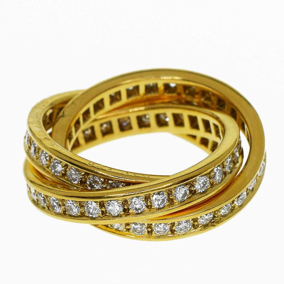 40abb96026f47 Cartier Cartier three diamond trinity ring 750 K18 YG yellow gold Japan  size approximately nine ...