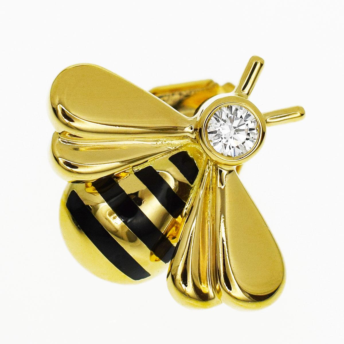 Cartier カルティエ ダイヤ ビー ピンブローチ 750 K18 YG イエローゴールド 1990【送料無料】ハチ 蜂【中古】【代引き手数料無料】31280426