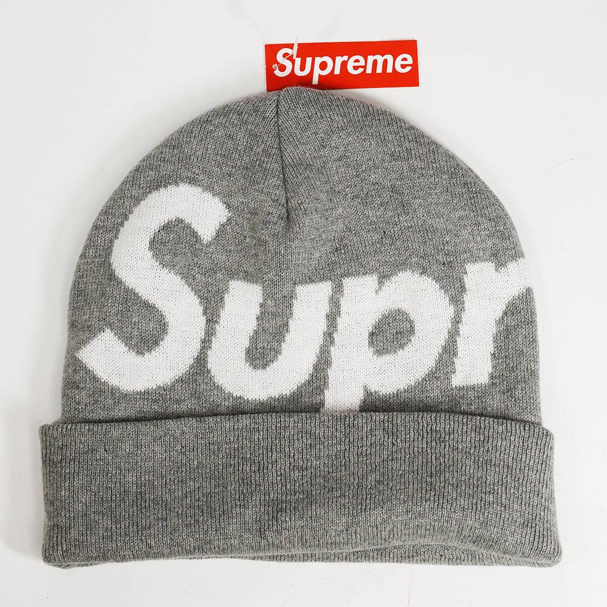 【新品】Supreme シュプリーム Big Logo Beanie ビッグ ロゴ ビーニー HTH GREY フリーサイズ 92%コットン 8%カシミヤ FW19BN7【送料無料】男女兼用 帽子【代引き手数料無料】31821105
