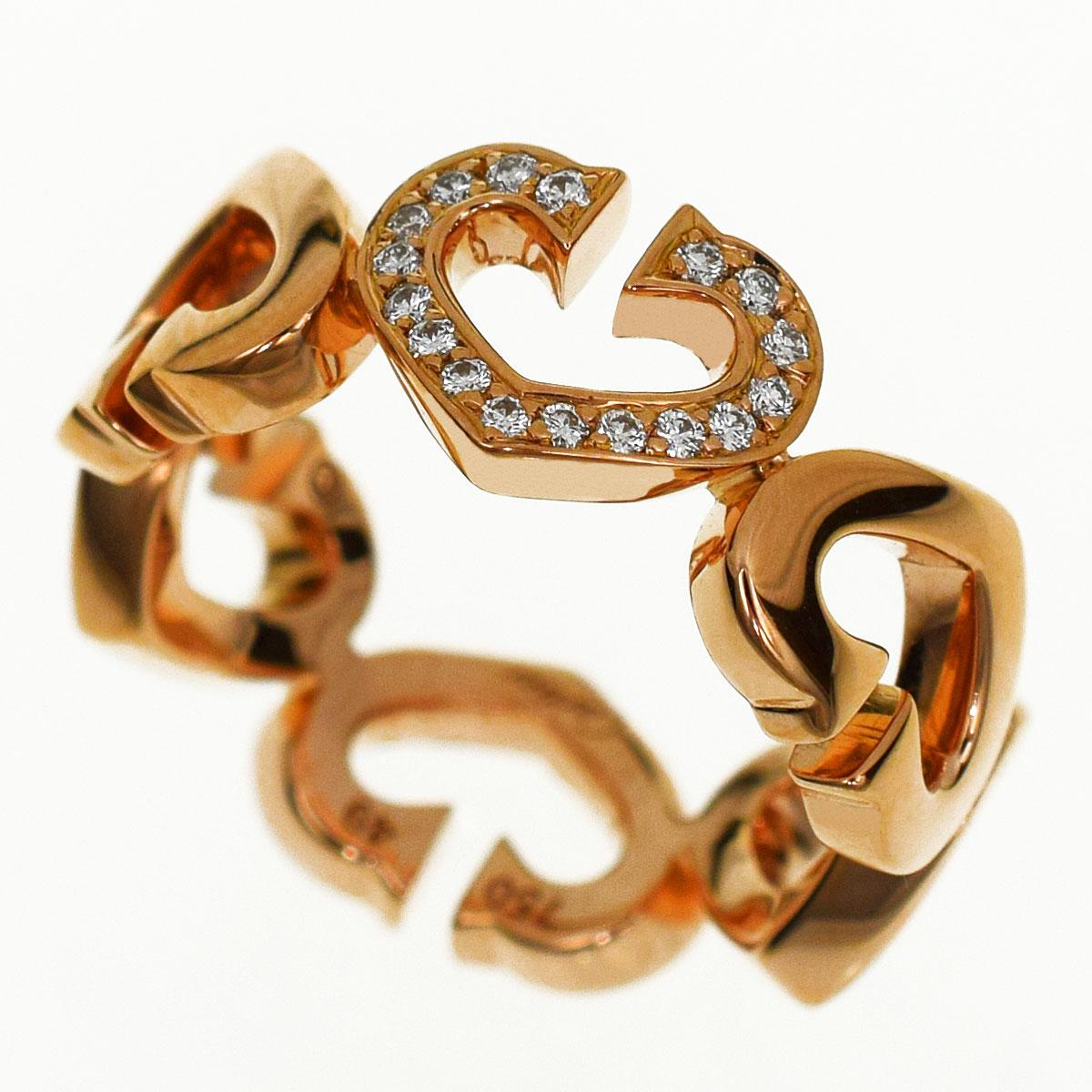 Cartier カルティエ ダイヤ Cハート オブ カルティエ 750 K18 PG ピンクゴールド 日本サイズ約9号 #49【送料無料】【代引き手数料無料】指輪 レディース ハート&シンボル【中古】31060101
