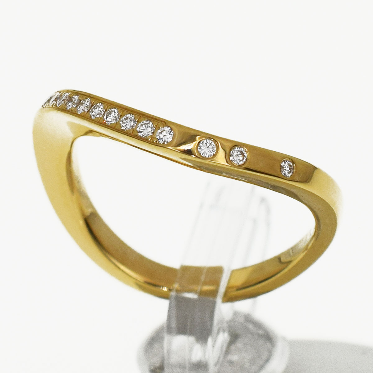 Cartier カルティエ ダイヤ パリ ヌーベルバーグ リング 750 K18 YG イエローゴールド 日本サイズ約8号 #48【送料無料】【代引き手数料無料】指輪 レディース【中古】30871201