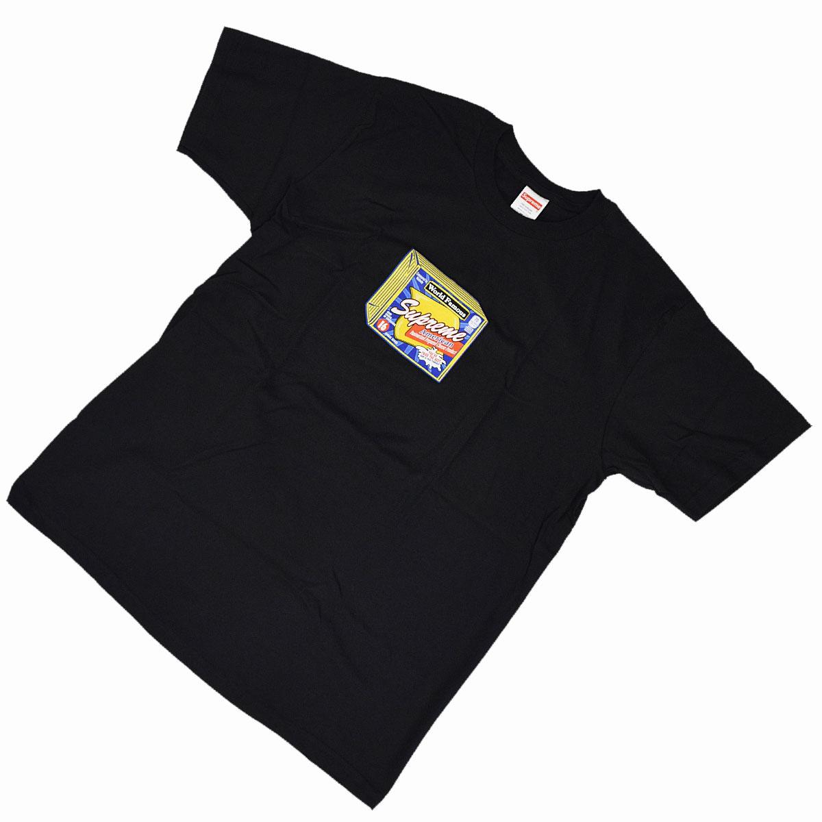 【新品】Supreme シュプリーム チーズ ティ ブラック M FW19T19【送料無料】【代引き手数料無料】Tシャツ 黒系 31821110