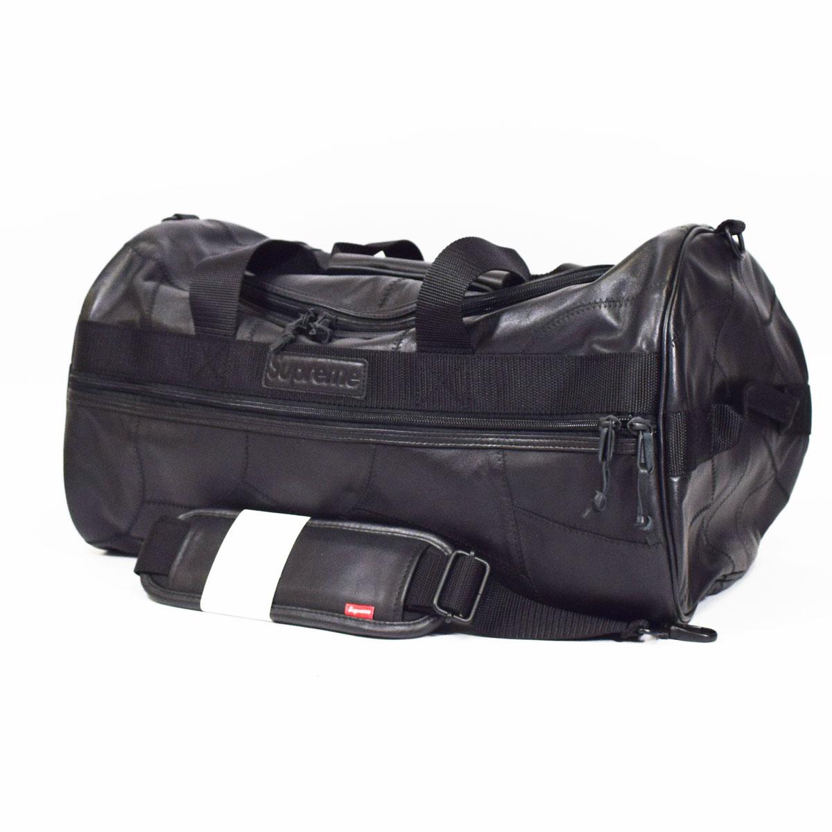 【新品】Supreme シュプリーム パッチワーク レザー ダッフルバック 黒 Patchwork Leather Duffle Bag 【送料無料】【代引き手数料無料】ブラック ボストンバッグ AW19 31821124