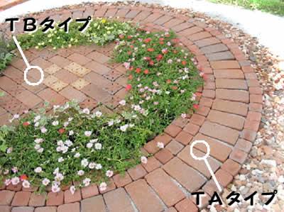 【入荷待ち】簡単にレンガのお庭ができるキュアガーデン テラスTAタイプ(外側円のみ)