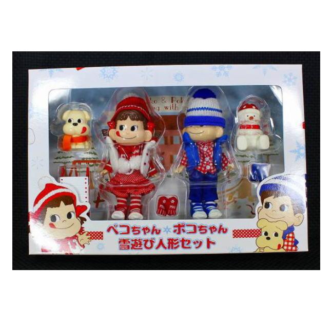 ペコちゃんポコちゃん雪遊び人形セット【未使用】