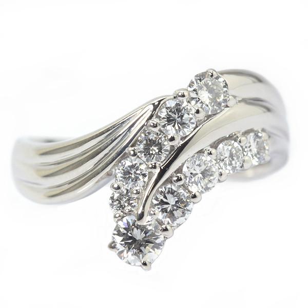 ダイヤモンドリング 1.04ct Pt900 19号 プラチナ 指輪 03395【中古】