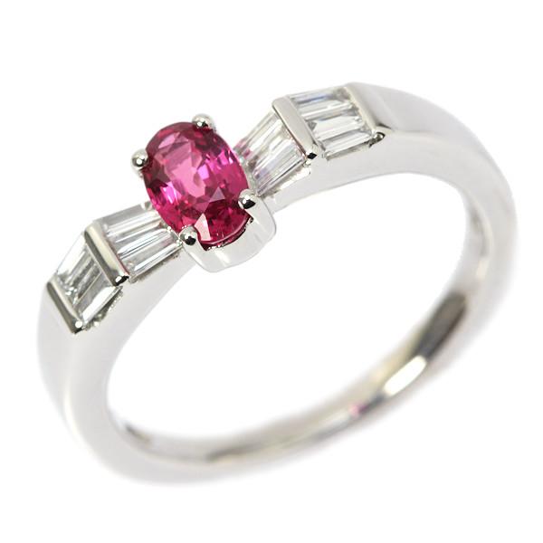 ルビー&ダイヤモンドリング 0.511ct/0.18ct 14号 Pt950 プラチナ 指輪 03424【中古】