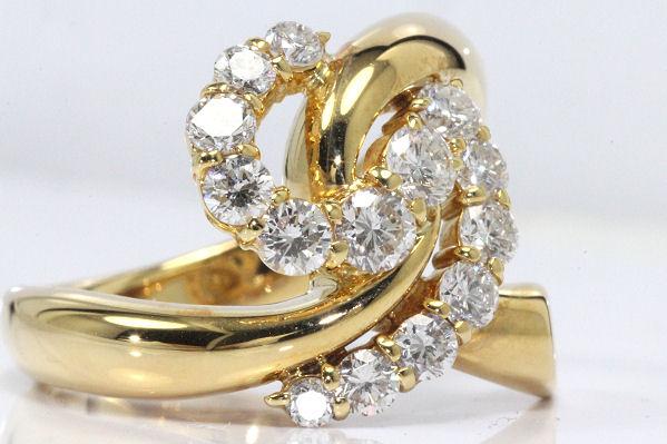 ダイヤ ファッションリング K18 計1.02ct 【中古】 30963-3