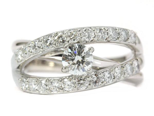 【H/SI-2/GOOD 0.390ct!!】ダイヤモンドリング 0.70ct Pt900 11.5号 約11.5g 指輪 ソーティング付き 98136【中古】