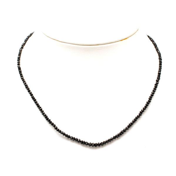 K18 WG ブラックダイヤ 20.00ct ネックレス 天然ダイヤモンド 約45cm 約4.8g ソーティング付き 13047【中古】