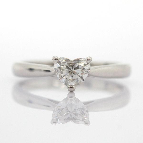 ハートブリリアントカット ハートダイヤモンドリング 11号 Pt900 プラチナ 0.543ct 指輪 8549【中古】