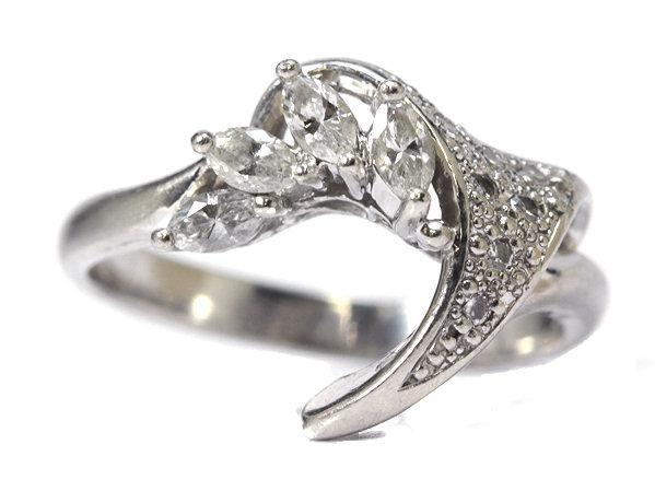 【0.36ct】ダイヤモンドリング Pt900 12号 指輪 00542【中古】
