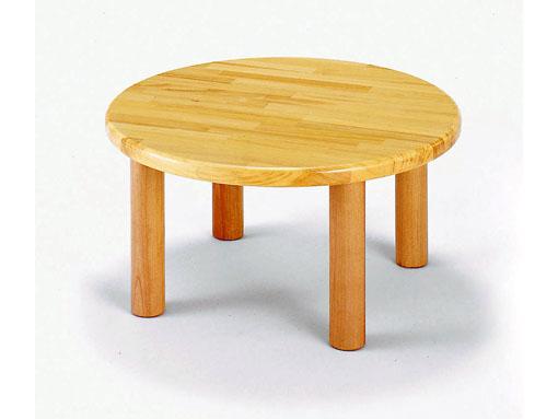 【子どもの家具】丸テーブル 60〈H35〉 ブロック社(日本製)お子様の成長に!
