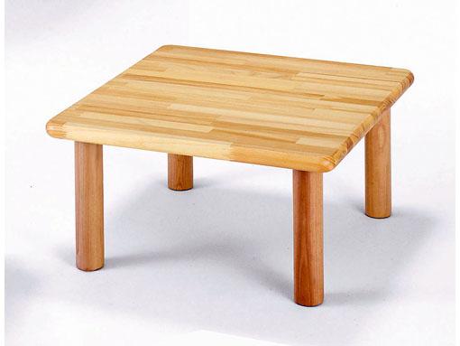 【子どもの家具】角テーブル60〈H35〉|ブロック社(日本製)お子様の成長に!