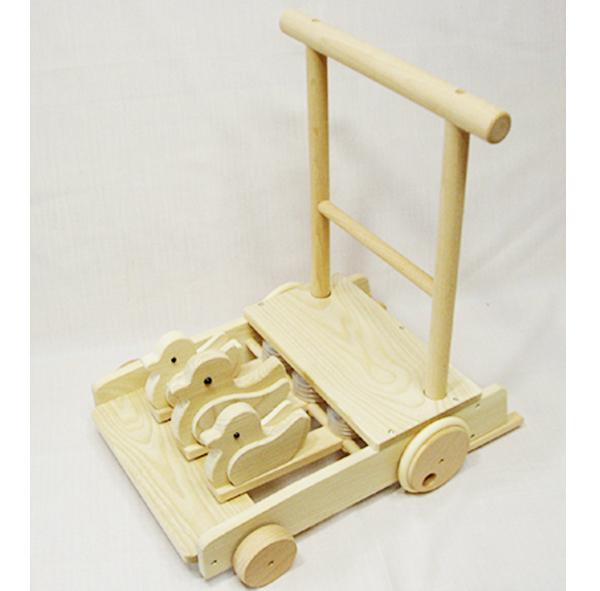 【日本製】木のおもちゃ コトコト押し車 プレゼントに♪