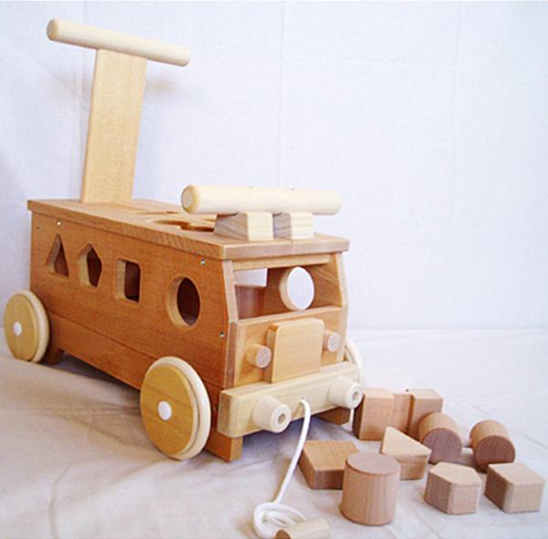 木のおもちゃ パズルバス プレゼントに♪※北海道、沖縄、離島配送不可