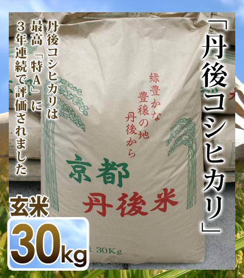 【送料無料】【令和元年 新米】【新米30キロ】玄米 丹後コシヒカリ 1等(30kg)京都丹後米