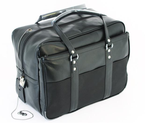 【安心の日本製】防犯ブザー付端末機専用渉外鞄ボストンタイプ(SEブザー付)防犯かばんシェアNo.1メーカー製造防犯機能付きビジネスバッグ