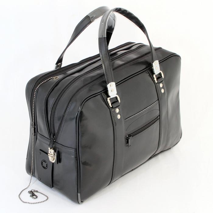 【安心の日本製】防犯ブザー付渉外鞄ボストンタイプ(SEブザー付)防犯かばんシェアNo.1メーカー製造防犯機能付きビジネスバッグ