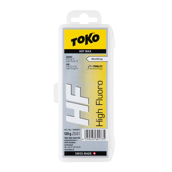 TOKO 〔トコワックス〕 トリブロックHFイエロー 120g 固形