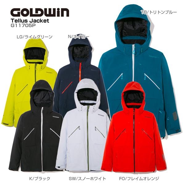 GOLDWIN〔ゴールドウィン スキーウェア ジャケット〕<2018>TELLUS JACKET G11705P【GORE-TEX】 送料無料 【MUJI】〔SA〕【X】