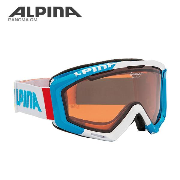ALPINA〔アルピナ スキーゴーグル〕<2018>PANOMA QH〔ライトブルー/ホワイト〕〔パノマQH〕【眼鏡・メガネ対応ゴーグル】〔HG〕