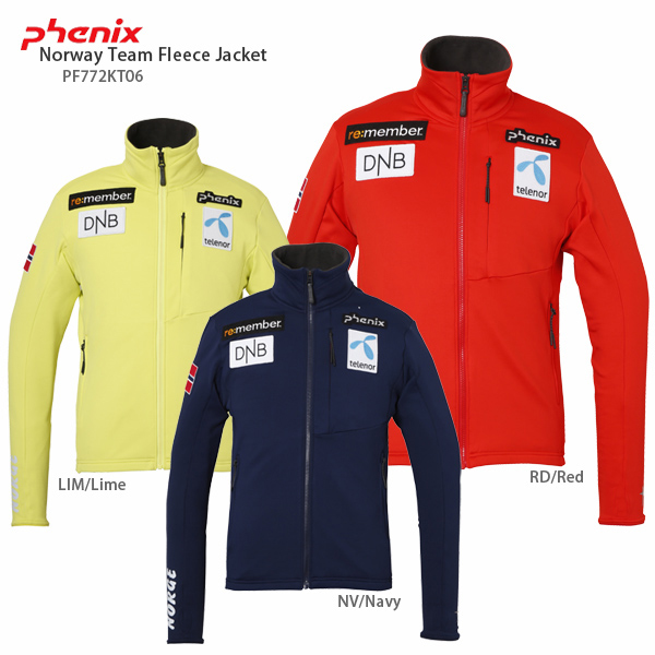 PHENIX〔フェニックス ミドルレイヤー〕<2018>Norway Team Fleece Jacket PF772KT06