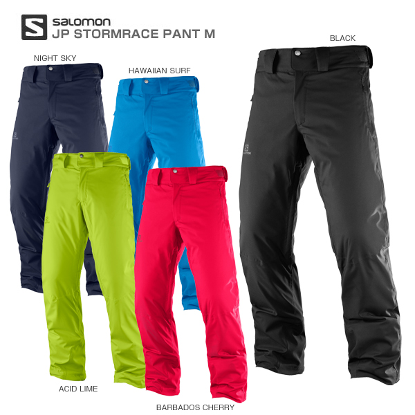 SALOMON〔サロモン スキーウェア パンツ〕<2018>JP STORMRACE PANT M【MUJI】 スキー スノーボード