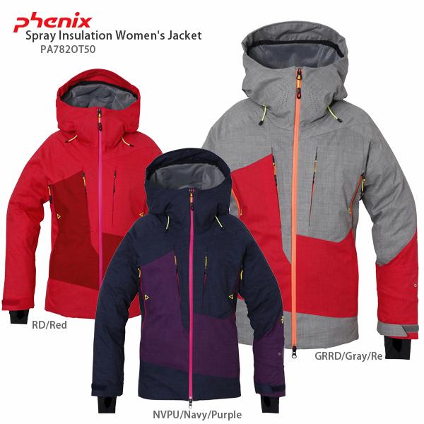 【スマホからエントリーでP10倍! 11/14 10時~11/21 9時59分】PHENIX〔フェニックス スキーウェア ジャケット レディース〕<2018>Spray Insulation Women's Jacket PA782OT50【送料無料】【MUJI】【SP】