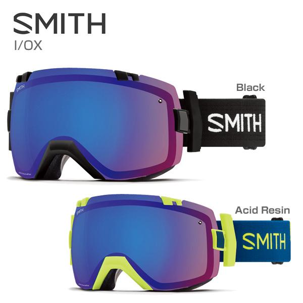 SMITH 〔スミス スキーゴーグル〕<2018>I/OX〔アイオーエックス〕【スペアレンズ付】【調光レンズ】【眼鏡・メガネ対応ゴーグル】【送料無料】〔HG〕〔Sale〕